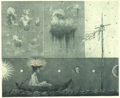 Konstantin KALYNOVYCH - Museum Of Clouds. Etching, mezzotint