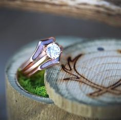 Rose Gold & Opal Engagement Ring. Handcrafted by Staghead Designs.