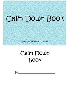 Mini work book to allow your students a place to write down their chosen coping skills.