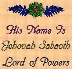 Yahweh God of War | Jehovah Sabaoth