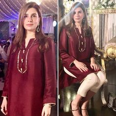 """Simplicity is the ultimate sophistication"". Sana stuns in Umer Sohail's attire 👌🏻 Pakistani Party Wear Dresses, Simple Pakistani Dresses, Shadi Dresses, Pakistani Fashion Casual, Pakistani Wedding Outfits, Pakistani Dress Design, Bridal Outfits, Stylish Dress Designs, Dress Neck Designs"