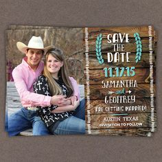 25 Rustic Save the Date Magnets Cards by LittleBeesGraphics, $12.99