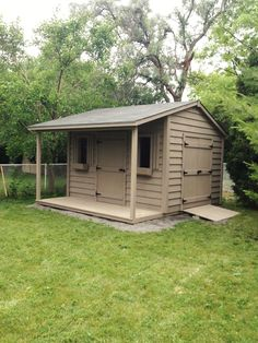 8x12 classic shed with 4 foot side porch