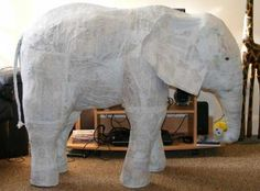not sure that I would ever need to make a huge paper mache elephant, but the idea is cool