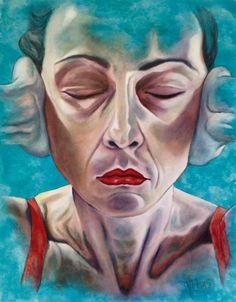 """""""Non sento"""" olio su tela 70x90 anno 2015 Monica Spicciani #Painter #Painting in…"""