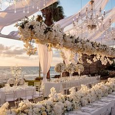 Tying the Knot In Tel Aviv Has Never Looked Better simple elegant beach wedding ceremony ideas Table Decoration Wedding, Wedding Venue Decorations, Garden Wedding Themes, Tall Centerpiece Wedding, Wedding Floral Arrangements, Elegant Party Decorations, Enchanted Garden Wedding, Flowers Decoration, Wedding Goals