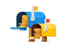 Mailbox Icon by Evgeniy Dolgov