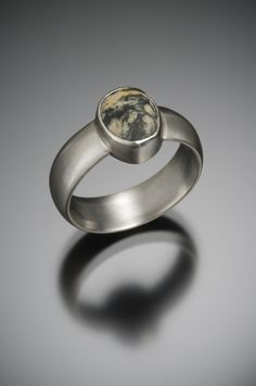Palladium Beach Pebble Engagement Ring. www.jnielsenjewelry.com