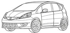 Honda Fit Sport Coloring Page