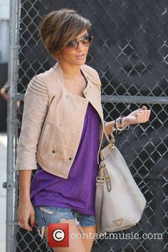 Frankie Sandford - Frankie Sandford, Los Angeles, California - of The Saturdays return to their hotel from a dance rehearsal...