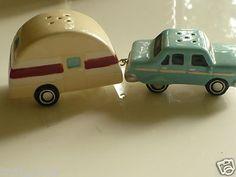 Vintage travel trailer & car salt & pepper shakers got to find for my TD