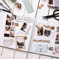 Document Disney with a Travel Album Bullet Journal Books, Bullet Journal Ideas Pages, Bullet Journal Inspiration, Scrapbook Journal, Travel Scrapbook, Diy Scrapbook, Scrapbook Layouts, Scrapbook Photos, School Scrapbook