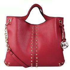 $67 2013 Michael Kors Uptown Astor Large Red Shoulder Bags #KORSSTYLE