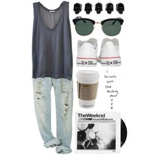 Love this casual outfit! Its plain but wear it right and you'lll look great! Polyvore Outfits, Polyvore Fashion, Looks Style, Style Me, Spring Summer Fashion, Spring Outfits, Lazy Day Outfits For Summer, Mode Outfits, Casual Outfits