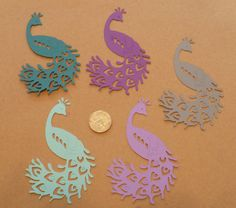 Peacock / Bird Shapes  Die Cut pieces Made by sandylynnbscrapping, $2.00