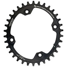 Bike Chainrings - Wolf Tooth Components Elliptical DropStop Single Chainring 32T x 104 Black -- More info could be found at the image url.