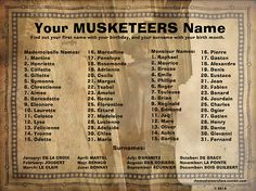 The Musketeers(BBCAmerica):What's Your Musketeer Name?  I'm Margot De La Croix (meow)