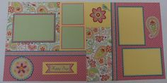 March Scrapbook workshop layout using CTMH Chantilly paper pack   Snips, Snaps, and Scraps