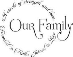 A FAITHFUL FAMILY FULL OF LOVE & STRENGTH