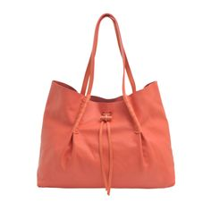 Ondine tote by Nina Ricci in coral leather. #monnierfreres #bag #ninaricci