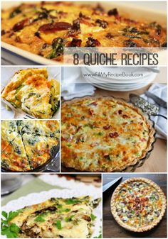 8 quiche recipes to bake with left overs, meaty or vegetarian, they are a tasty tea time tart as well. Advertisement - Continue below ham and cheese quiche Easy Quiche Recipe with Asparagus, Mushrooms, and Cheddar Ham spinach and mushroom quiche Meat lovers quiche Spinach, mushroom and feta quiche Join us on Facebook! bacon and spinach quiche Calorie …