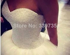 2014 New Custom Made Real Sample Tulle With Pearls Sweetheart Open Back Ball Gown Big Train Wedding Dresses Bridal Gowns WQ-38