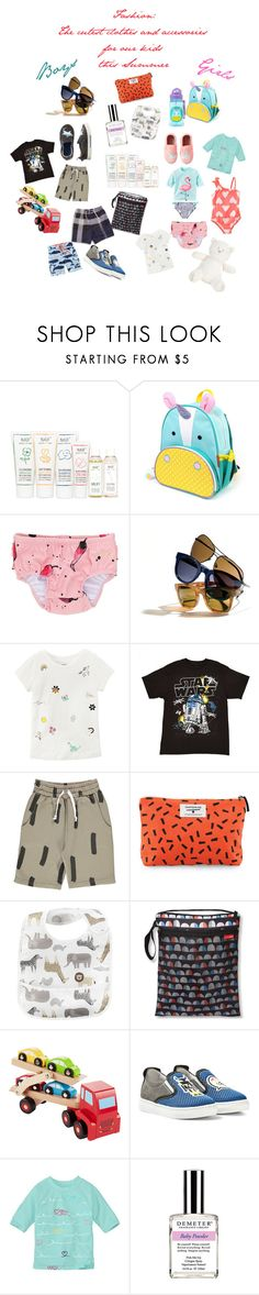 """""""The cutest Kids Fashion for Summer ."""" by prettyflawlessblog ❤ liked on Polyvore featuring interior, interiors, interior design, home, home decor, interior decorating, Naïf, J.Crew, Carter's and Darling Clementine"""
