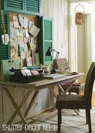 Shutters for wall decor - Google Search