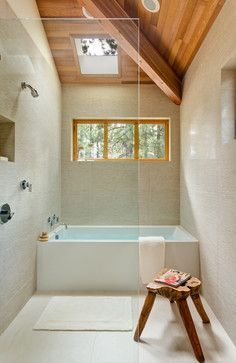 Shower Tub Combination Design Ideas, Pictures, Remodel, and Decor - page 5:
