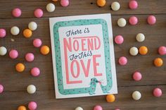There is No End to This Love  Letterpress Card by WednesdayPress, $5.00