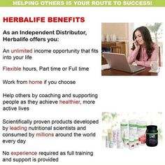 Looking for Health Coach's No experience needed. We will train you and coach you all the way. What are you waiting for? Do you know that Herbalife pays out more than any other multi level marketing company out there? 33 years of solid business. 6.4 BILLION DOLLARS last year. Herbalife is in over 88 countries. Number 1 in the WORLD in nutrition and wellness. What are you waiting for, You deserve the best. Talk to you soon: yourcoachtara@gmail.com