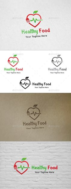 Healthy Food Logo: Food Logo Design Template by martinjamez. Food Logo Design, Logo Food, Tone It Up, Herbalife, Nutrition Month Costume, Nutrition Quotes, Food Nutrition, Nutrition Pyramid, Visual Identity