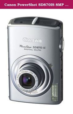Canon PowerShot SD870IS 8MP Digital Camera with 3.8x Wide Angle Optical Image Stabilized Zoom (Silver). From the very first glance, the smooth shape and bold lines of the stylish PowerShot SD870IS Digital ELPH signal that this is no ordinary camera. With 8.0 megapixels of resolution, an Optical Image Stabilizer, and 3.8x optical zooming, the SD870IS Digital ELPH boasts impressive specs as well as a host of convenience features. Face Detection Technology for worry-free people shots. A…