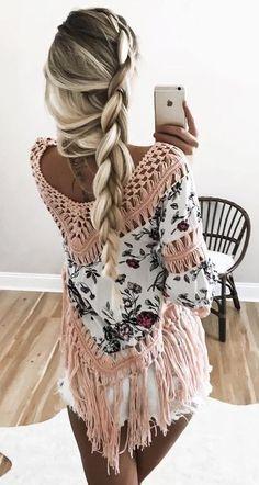 Floral Crochet Fringe Top + Shorts