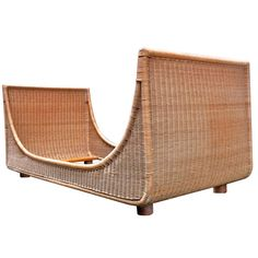 Jean Royere Genuine Documented Superb Day Bed in Good Condition of Rattan | From a unique collection of antique and modern day beds at http://www.1stdibs.com/furniture/seating/day-beds/