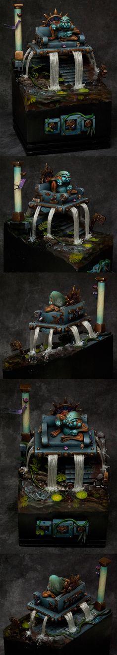 Warhammer FB | Lizardmen | Slann #warhammer #ageofsigmar #aos #sigmar #wh #whfb #gw #gamesworkshop #wellofeternity #miniatures #wargaming #hobby #fantasy