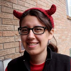 Free Crochet Pattern - Devil Horns Headband