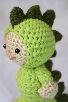 Crochet Pattern- Luke in the dinosaur suit amigurumi. $4.50, via Etsy.