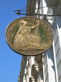 One Penny Shop Sign, Great Russell Street, London WC1