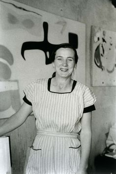 Agnes Martin was one of the few women to stand out during a revolutionary period of American art in the 1940s thru 1960s. Her meditative paintings, drawings, and writings have influenced generations of artists interested in abstraction. IMAGE: Mildred Tolbert's Untitled Collection (Agnes Martin in Her Studio), ca. 1955.