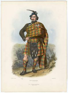 "Clans of the Scottish Highlands 1847 Plates 1-54, Plate 001. Fashion plates, 1700-1955. The Costume Institute Fashion Plates. The Metropolitan Museum of Art, New York. Gift of Gift of Stanley A.Weeks, 1989-91 (b17520939) | The caption to this colorful Scottish Highlands clansman indicates he is a member of the Clan ""Buchanan."" #fashion"