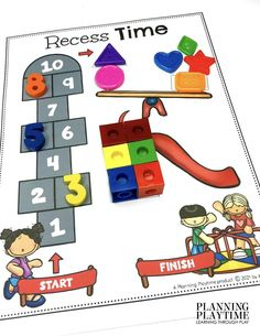 How FUN!! Numbers + Shapes + Patterns! - Back to School Preschool Worksheets Preschool Binder, Preschool Age, Preschool Worksheets, Preschool Activities, Back To School Worksheets, Back To School Activities, Hands On Activities, Recess Games, Learning Through Play