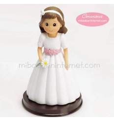 Niña Comunión Margarita 1700-DP Pastel, Cinderella, Disney Princess, Disney Characters, First Holy Communion, Pies, Pie, Disney Princes, Crayon Art