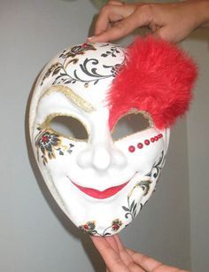 Mask Decorating Ideas Paper Pulp Mask With Acrylic & Sharpie Markers ~ Created Alongside
