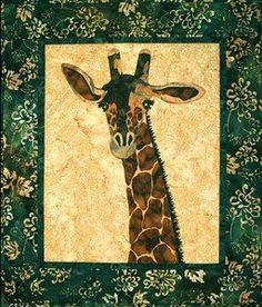 Zuri Applique Quilt Pattern - The Virginia Quilter ~~b~~ Love Giraffes ♥♥♥