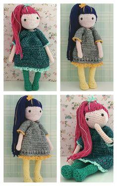 Amigurumi Doll Free Pattern —Amigurumi doll crochet free pattern Doll Amigurumi Free Pattern, Amigurumi Doll, Free Crochet, Crochet Hats, Crochet Patterns, Teddy Bear, Dolls, Gifts, Presents