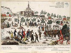 Romeria de San Isidro: la pradera en el día del Santo de 1875.