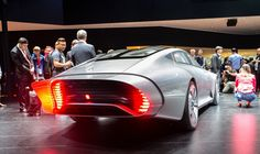 The Mercedes Concept IAA's extending tail is made up of eight panels that add 15 inches to its backside