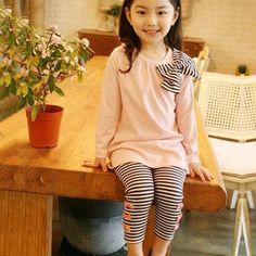 7077999defa75 2PCS Toddler Kids Baby Girls Outfits T-shirt Dress Tops Long Pants Clothes  Set