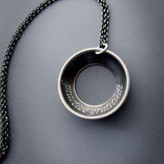 Practice Gratitude Necklace by Lisa Hopkins Design